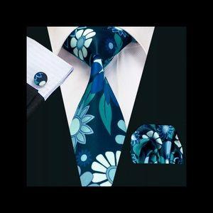 Men's Flower Decorative Detail Necktie